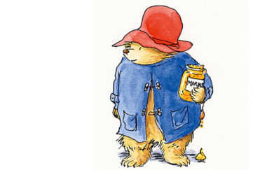 Paddington Bear holding marmalade