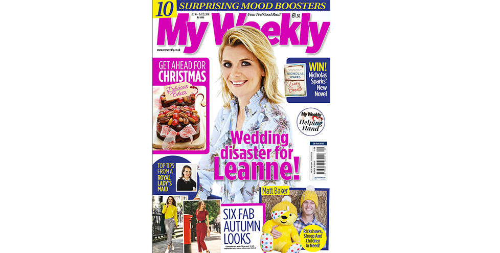 My Weekly latest issue cover October 16, 2018 with Jane Danson and Christmas cookery