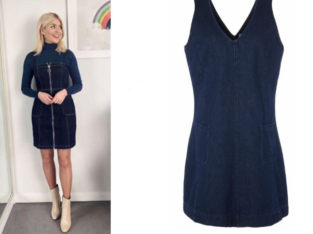 Holly Willoughby in denim pinafore
