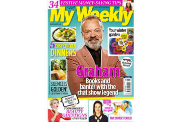 my weekly latest issue october 9, 2018, with Graham Norton and chicken dinner recipes
