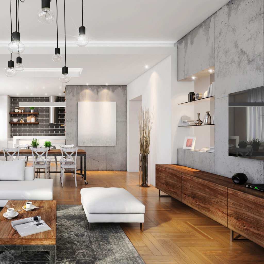 Modern hipster apartment interior with mixed lighting Pic: Istockphoto