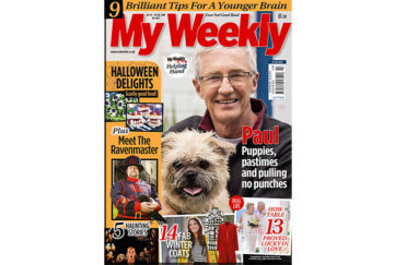 Cover of My Weekly latest issue October 23, 2018 with Paul O'Grady and Halloween treats cookery
