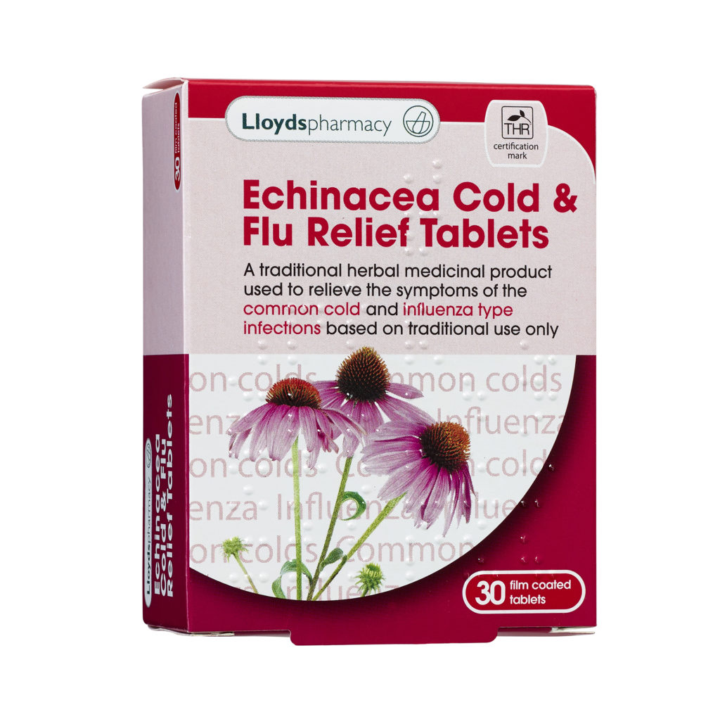 Lloyds Echinacea Cold & Flu Relief Tablets