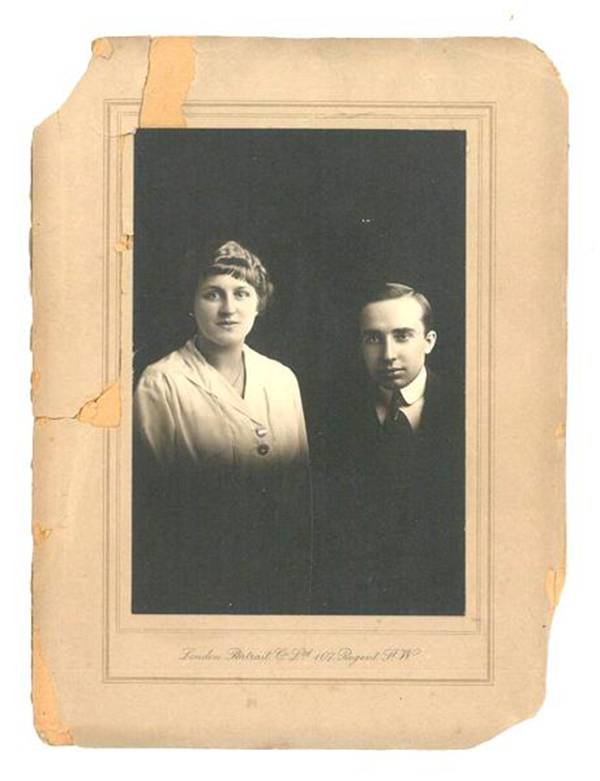 Irma and Georges' Wedding Day, 1917