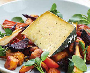 Cornish Yarg on roasted veg