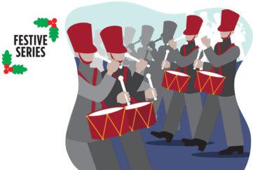 12 drummers drumming Illustration: Rex/Shutterstock, Istockphoto