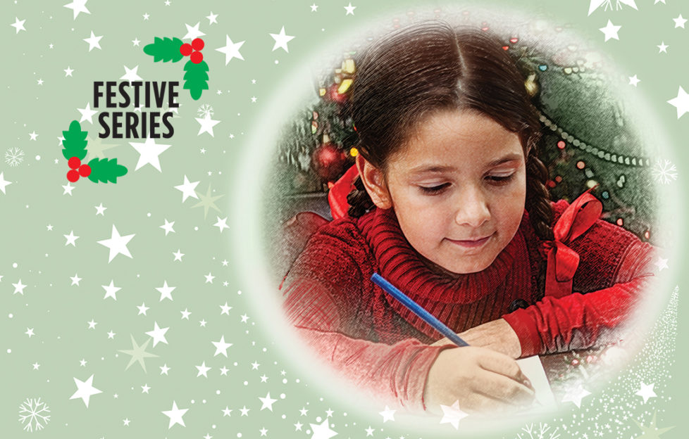 A little girl writing to Santa Illustration: Istockphoto, Mandy Dixon