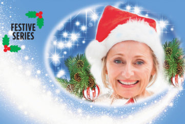 Lady in a Santa hat Illustration: Istockphoto, Mandy Dixon