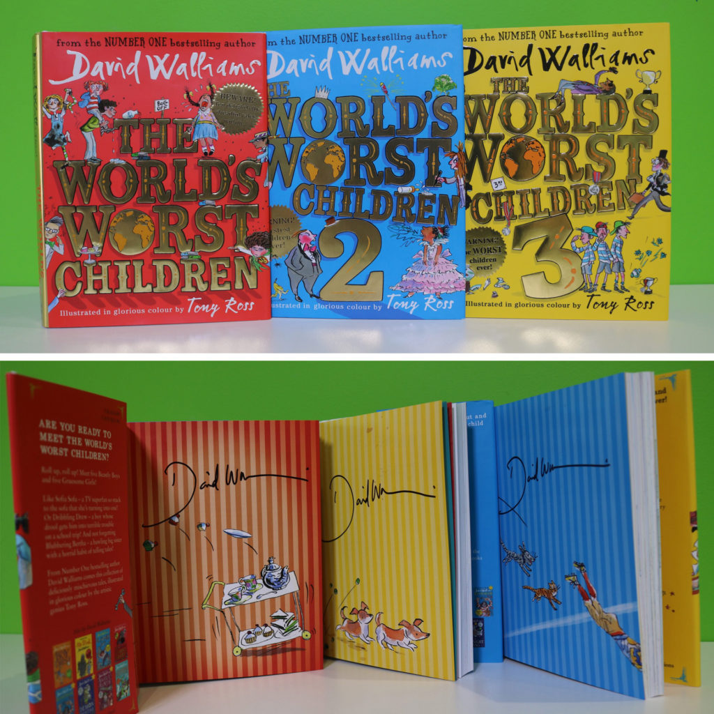 The World's Worst Children 1,2 and 3 signed by author David Walliams
