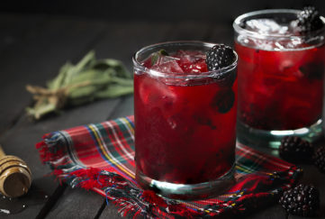 Blackberry and Sage Highland Spring cocktail