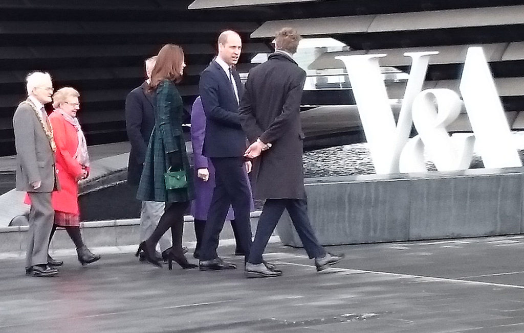 Prince William and Kate arriving at the V&A Dundee