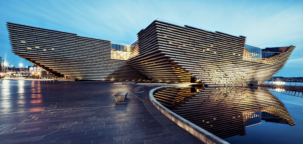 V&A Dundee, designed by Japanese architect Kengo Kuma