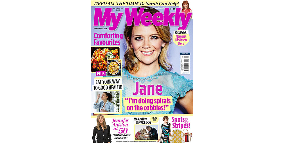 Cover of My Weekly latest issue February 9 with Jane Danson and comfort food recipes