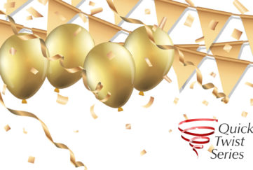 Gold balloons and banners Illustration: Istockphoto