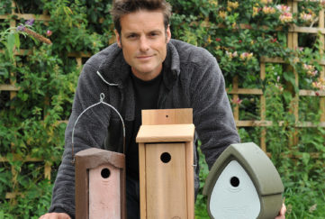 Nick Baker with Nestboxes