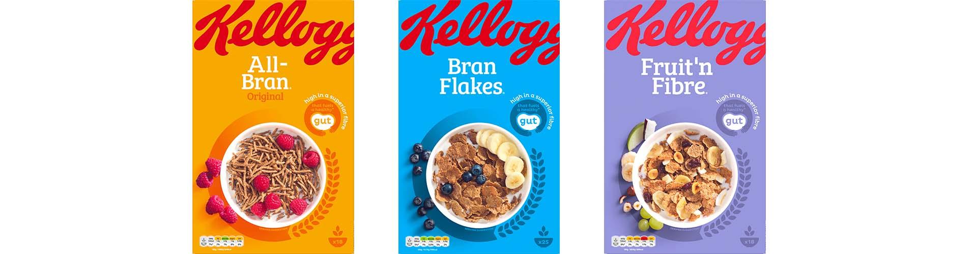 Boxes of Kellogg's Branflake range