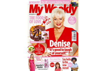 Cover of My Weekly latest issue February 12, 2019 with Denise Welch and Valentine cookery