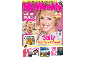 My Weekly latest issue February 19, 2019 with Sally Dynevor and spiced biscuits