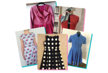 A selection of homemade clothes