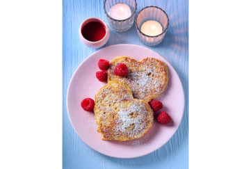 Heart shaped eggy bread