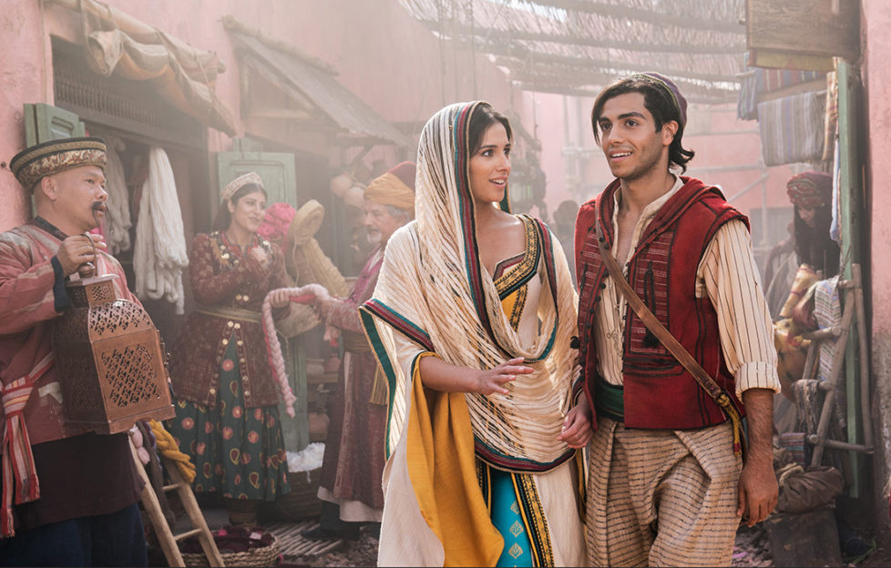 Naomi Scott as Jasmine and Mena Massoud as Aladdin in Disney's live-action adaptation of ALADDIN, directed by Guy Ritchie. Pic: Daniel Smith, copyright Disney Enterprises Inc (All Rights Reserved)
