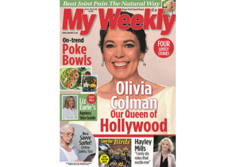 Cover of My Weekly latest issue March 19 with Olivia Colman and poke bowls