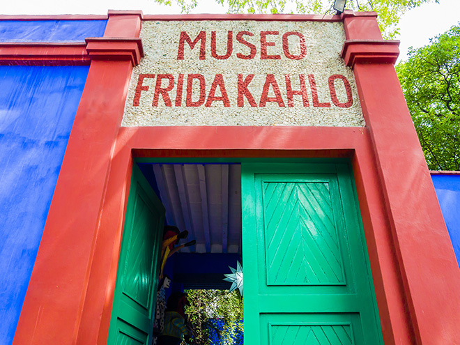 Entrance of Frida Kahlo Museum (also known as the Blue House - La Casa Azul), Coyoacán borough, Mexico City Pic: Istockphoto