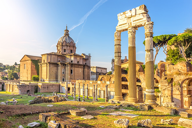 Ruins of the Caesar Forum and the Temple of Venus Genetrix in Rome, Italy Pic: Istockphoto