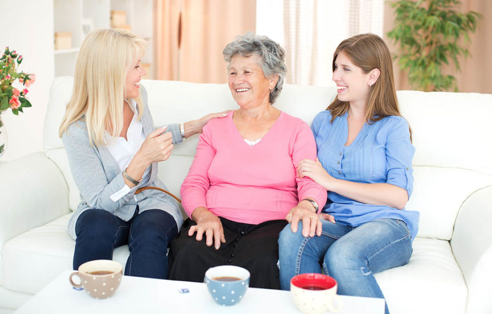 Grandmother with daughter and granddaughter at home Pic: Istockphoto