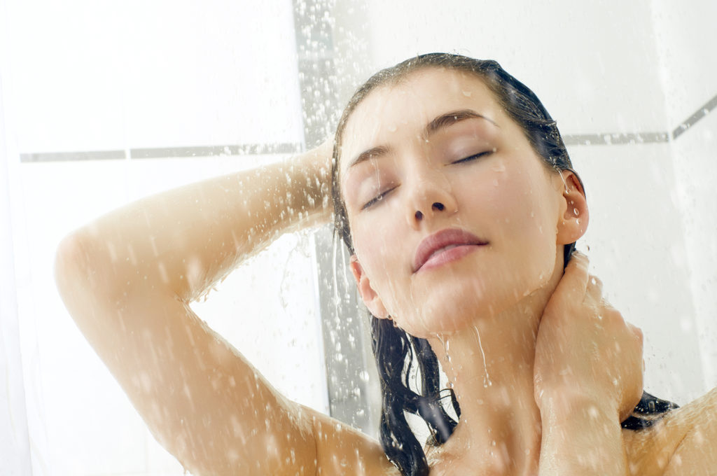 Woman in the shower