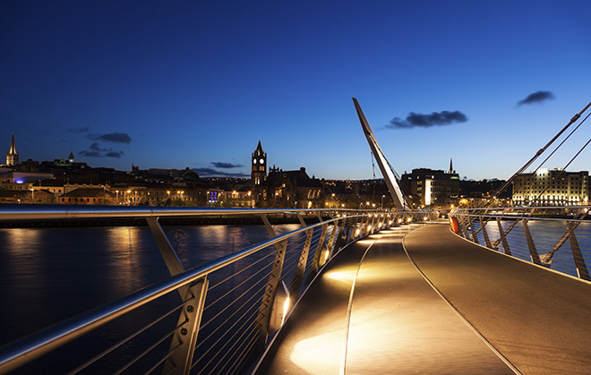 Peace Bridge in Derry, Northern Ireland Pic: Istockphoto