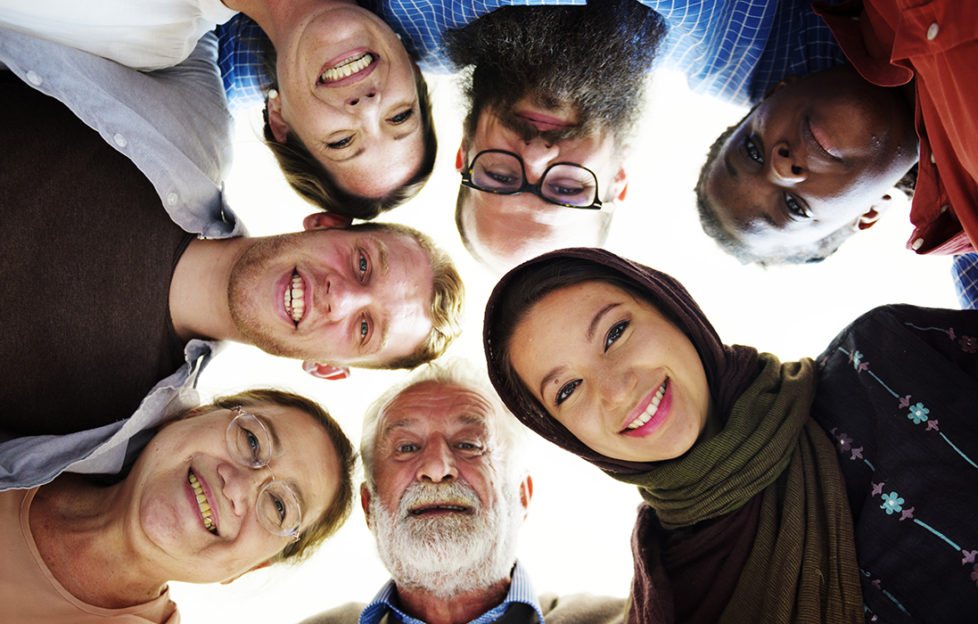People of different ages and nationalities having fun together. Pic: istockphoto