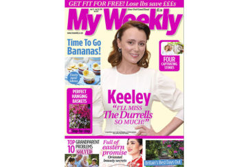 Cover of My Weekly latest issue April 23 with Keeley Hawes and banana cookery