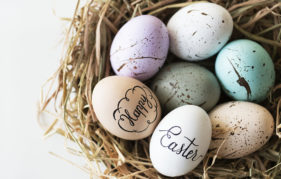 Closeup of easter eggs Pic: Istockphoto