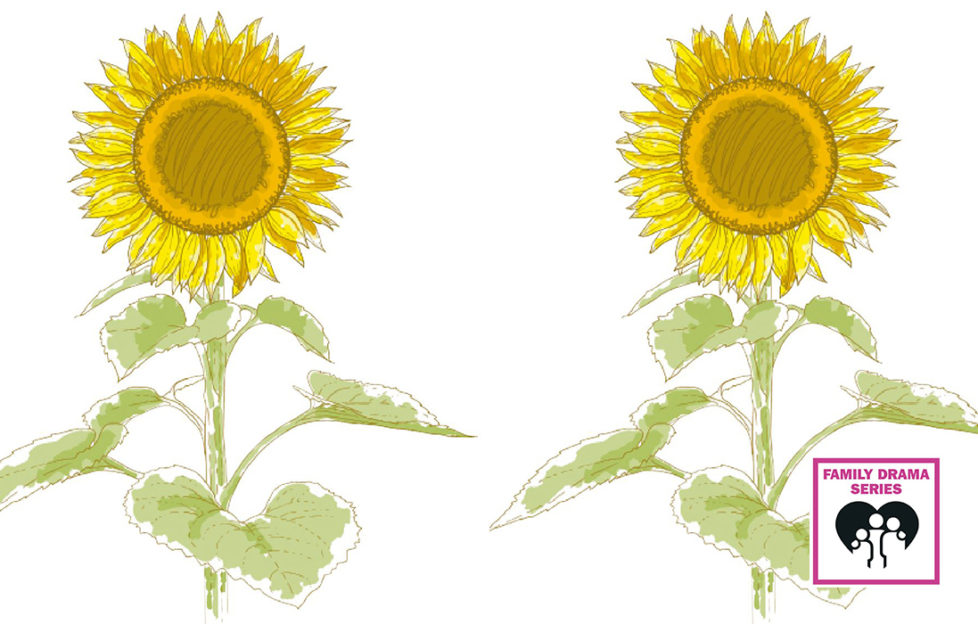 Illustration of two sunflowers