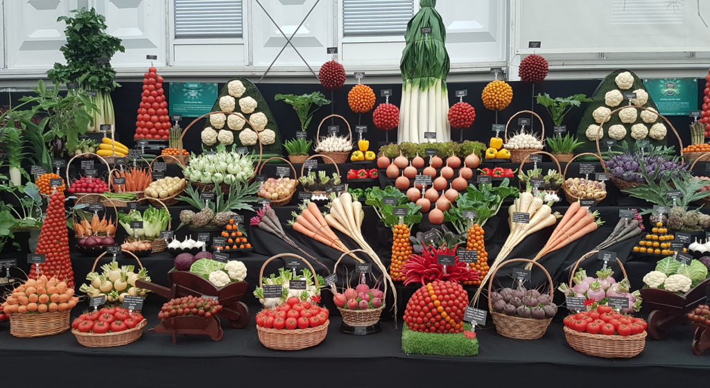 Medwyn Williams' incredible vegetable display.