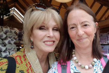 Susie White and Joanna Lumley
