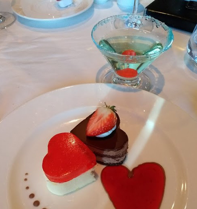 Heart shaped puddings