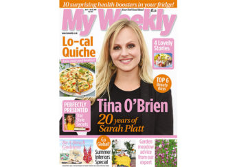 Cover of My Weekly latest issue with Tina O'Brien and low-calorie quiche recipes