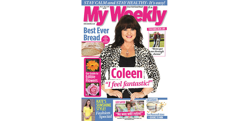 Cover of My Weekly latest issue with Coleen Nolan and bread making masterclass