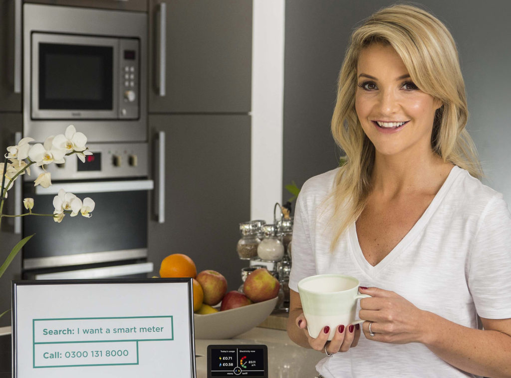 Helen Skelton in the kitchen. One of her energy saving tips is to cook either in the slow cooker or the microwave.