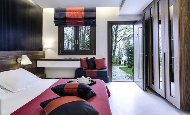 A bedroom at 12 Months Luxury Resort