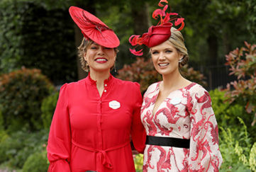Kate Silverton and Charlotte Hawkins at Royal Ascot June 18 2019