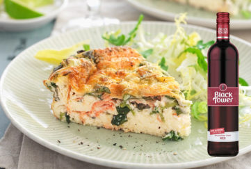Smoked Salmon Crustless Quiche Pic: Jon Whittaker