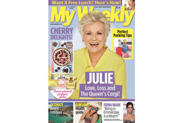 Cover of My Weekly latest issue July 2, with julie Walters and Cherry Delights cookery