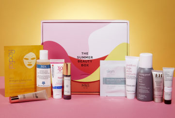 M & S Beauty Box and Contents