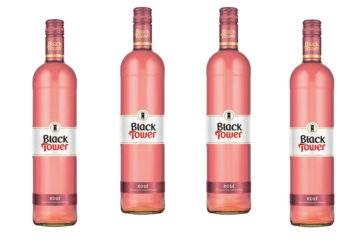 4 bottles Black Tower Rose