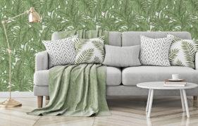 Erismann Botanical Leaf Jungle Wallpaper, Green