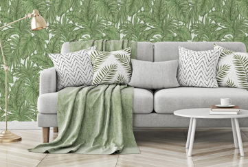 Erismann Botanical Leaf Jungle Wallpaper, Green