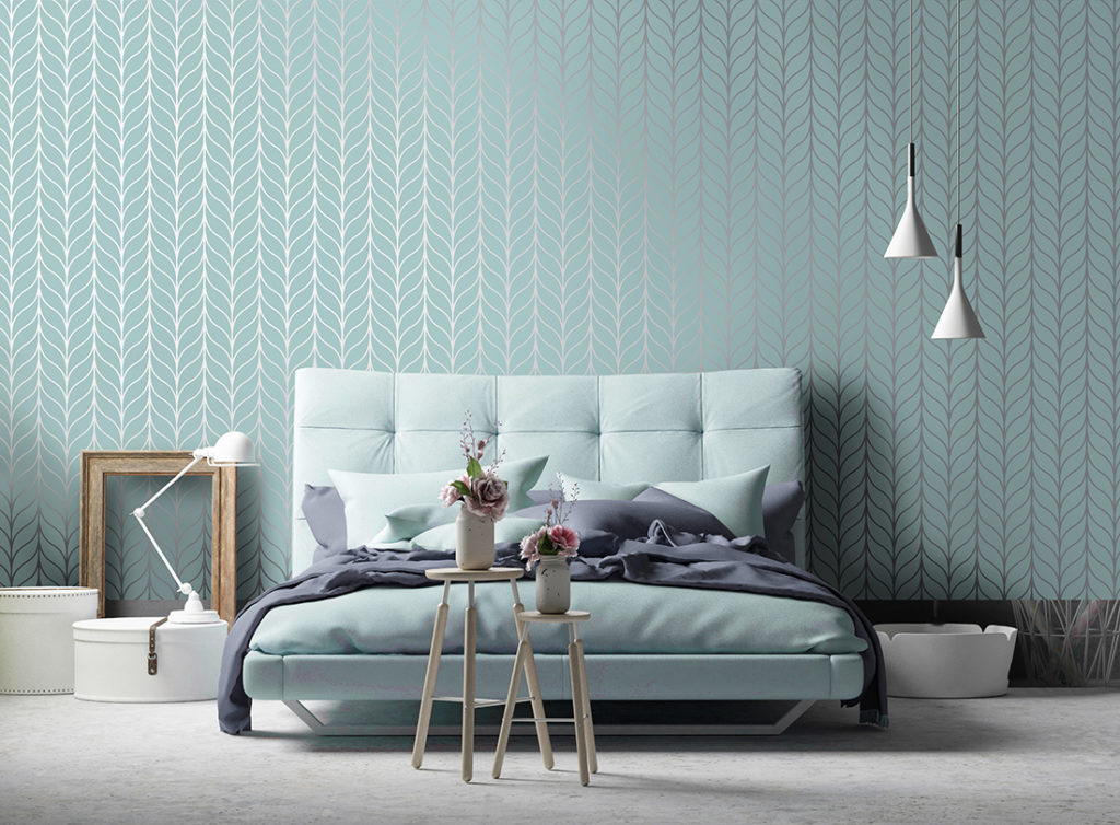 Holden Decor Shimmering Geo Wallpaper , Teal